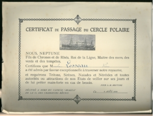 Certificat de passage Losseau Archives 1929