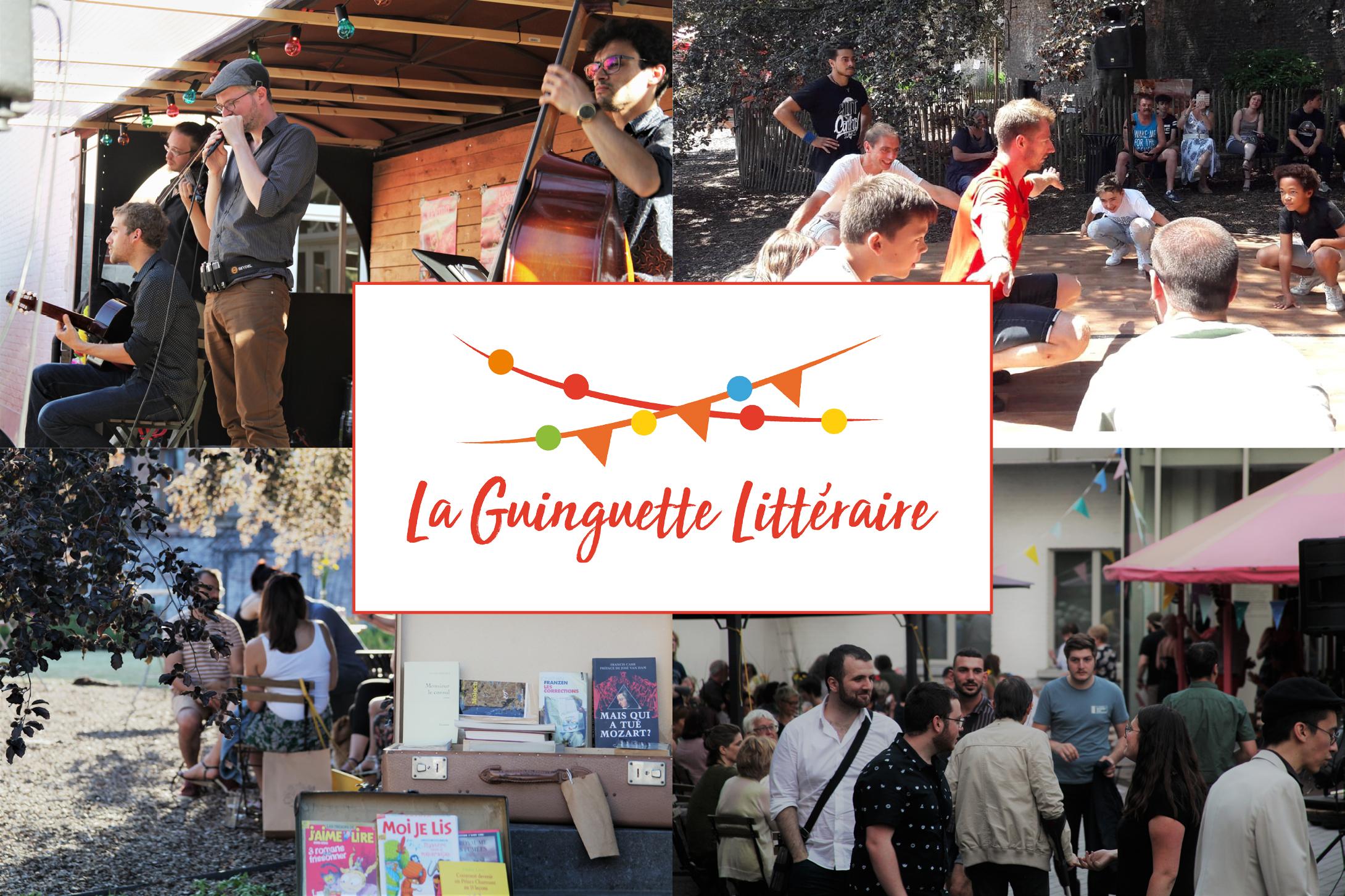 Image de couverture avec Logo Guinguette Littéraire 2019