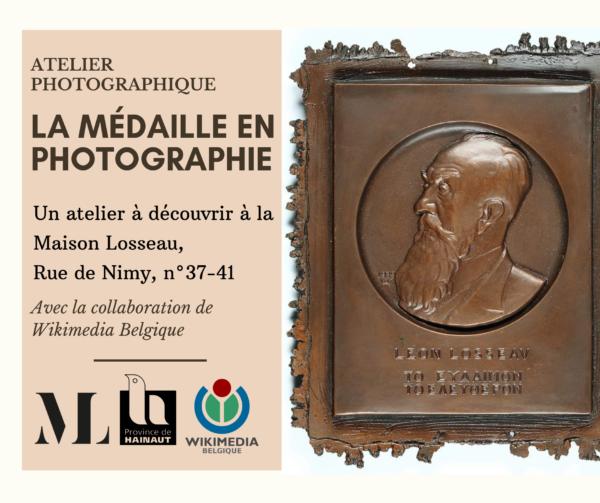 Visuel des ateliers photographiques Maison Losseau Wikimedia Belgium médaille