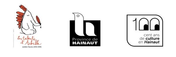 Logos Talents d'Achille + Province de Hainaut + 100ans de culture en Hainaut