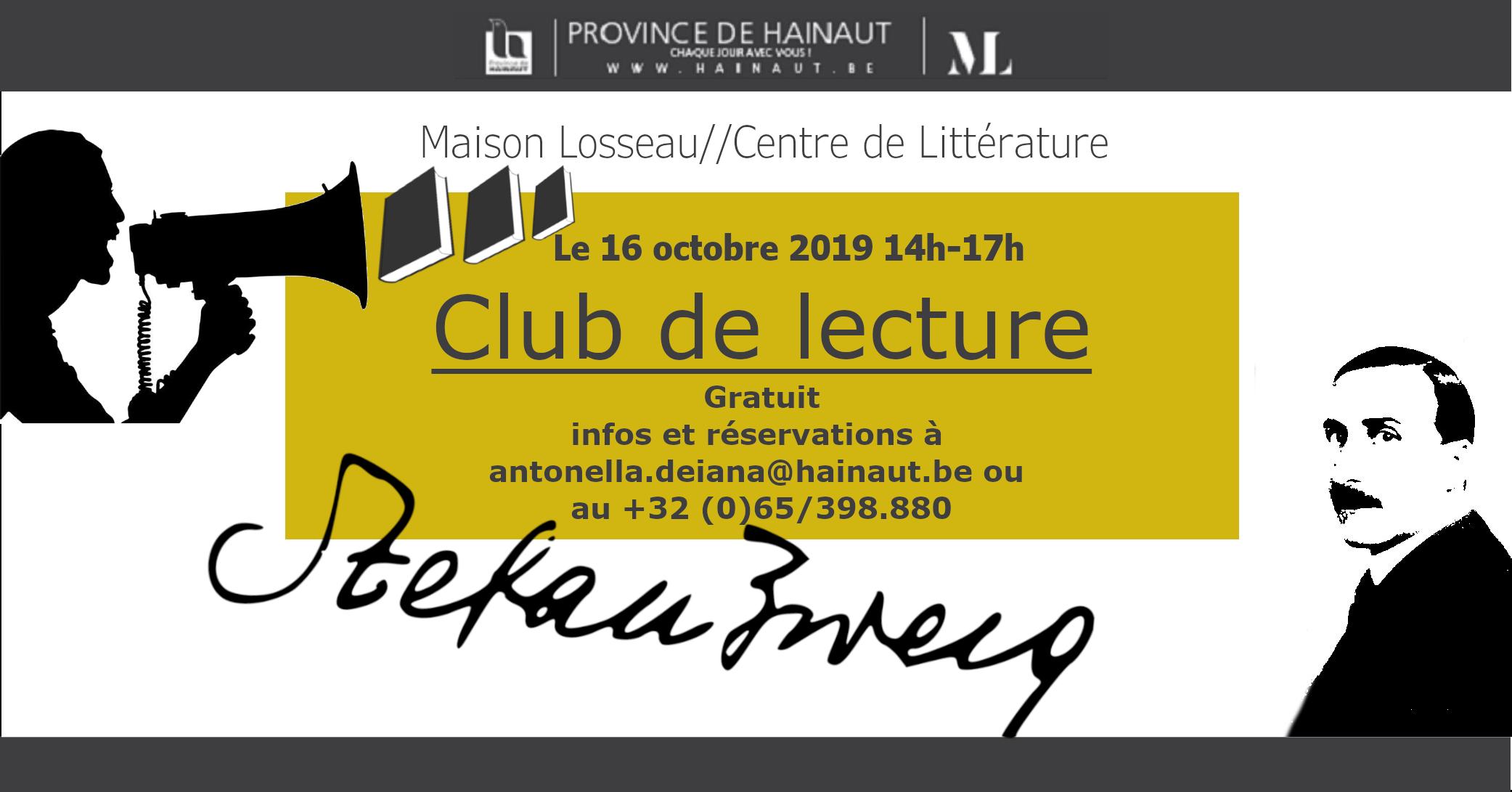 Club de lecture Maison Losseau Stefan Zweig