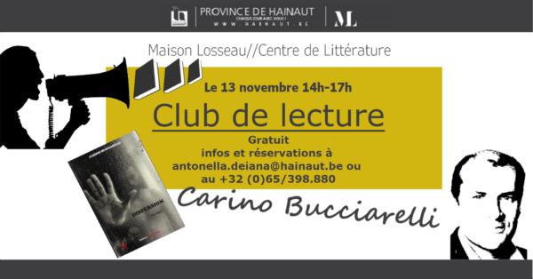 Club de lecture Maison Losseau Carino Bucciarelli