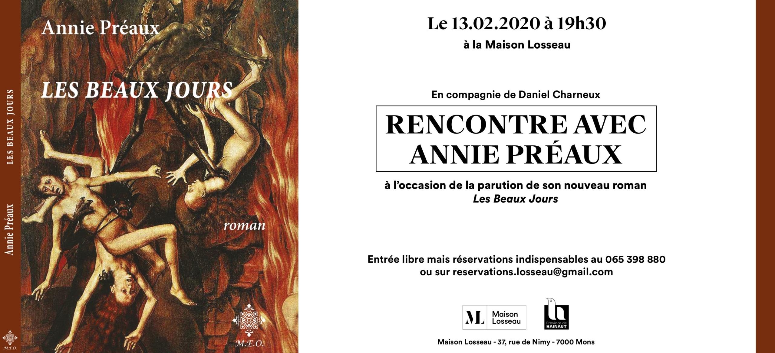Rencontre avec Annie Préaux