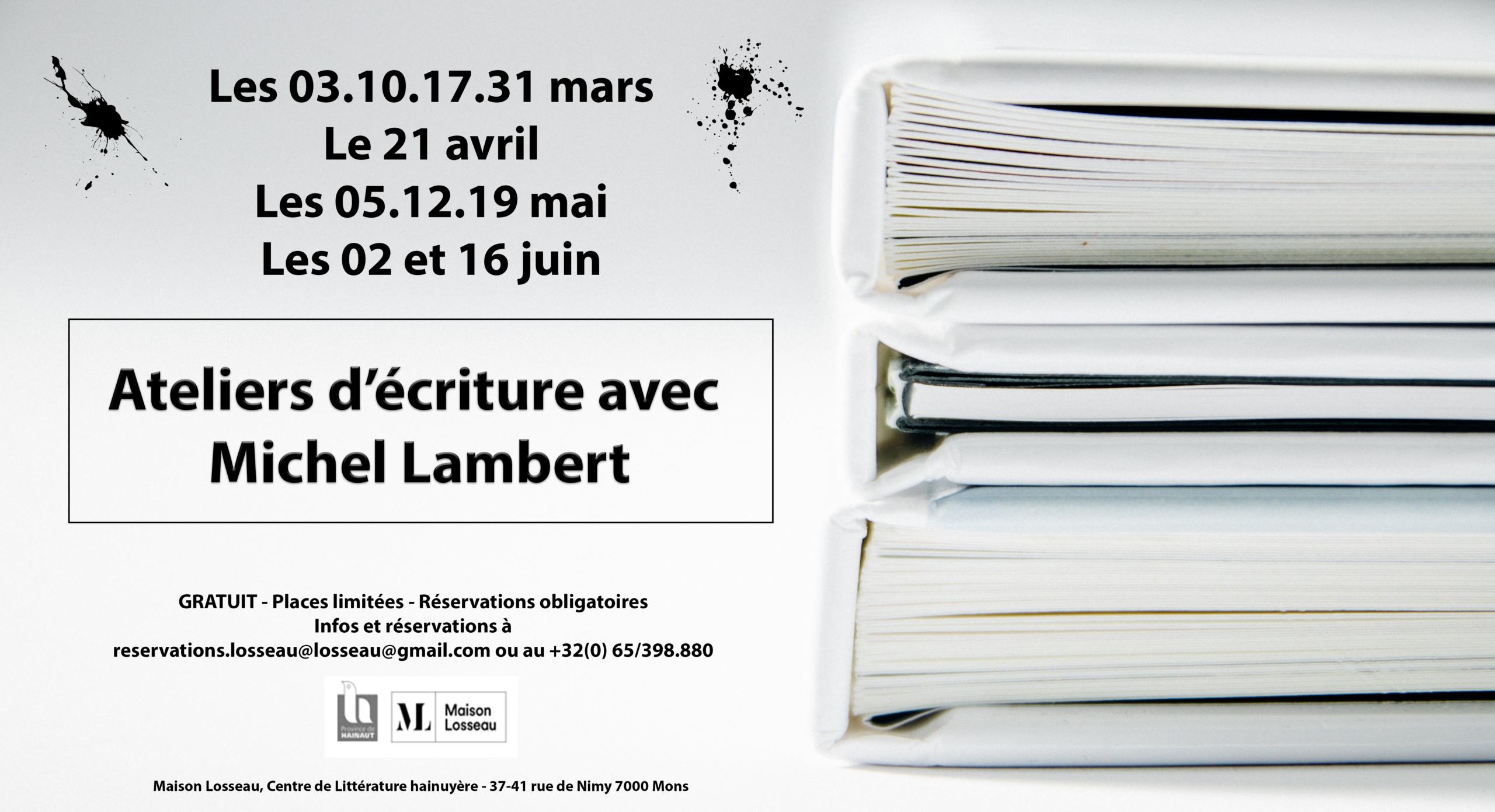 Ateliers d'écriture de Michel Lambert