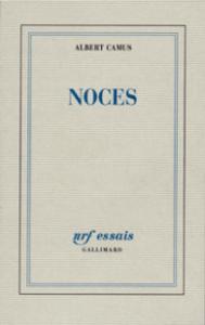 Première de couverture Albert Camus, Gallimard, Noces