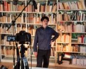 Photo de l'interview d'Antoine Jobard à la Maison Losseau dans le cadre du cycle le buveur de déluge