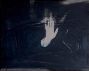 Dominique Thirion, Ciao, peinture sur toile 24x30cm, 2014 - Collection Province de Hainaut, Dépôt BPS22, Musée d'art de la Province de Hainaut