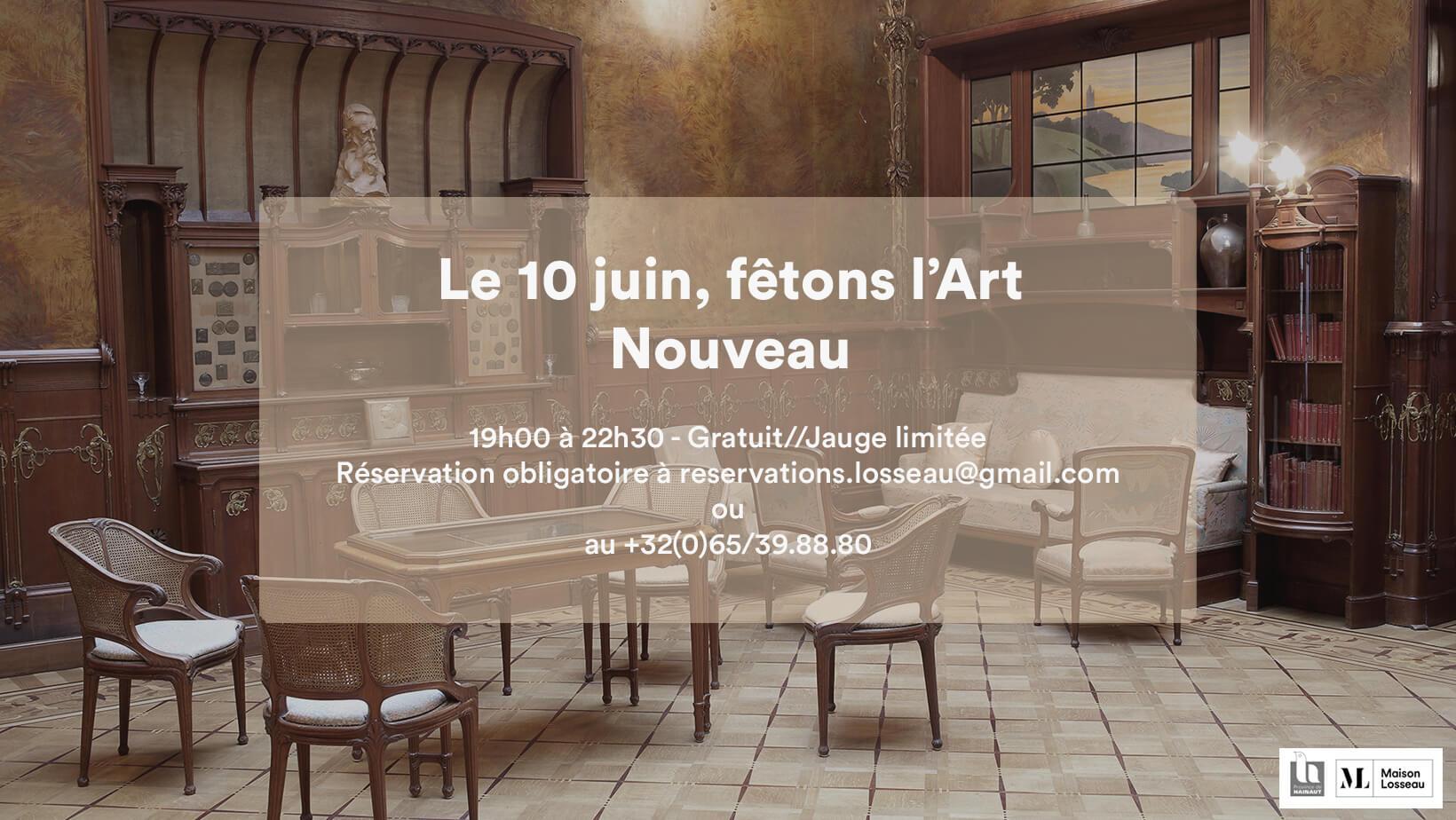 """Visuel officiel de l'activité """"Le 10 juin, fêtons l'Art Nouveau"""" de la Maison Losseau"""