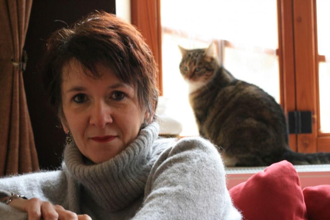 Photo de Christine Van Acker avec chat de Thierry Van Roy